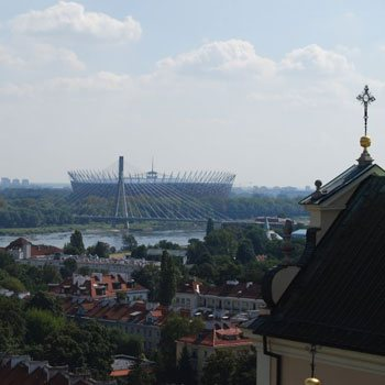 Mariensztat, the Vistula river, the National Stadium
